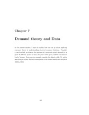 Chapter 7 - Demand and Data