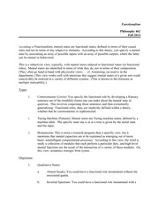 Functionalism Worksheet with Answers