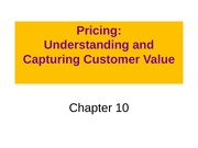 ch 10 Pricing Customer Value