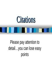 Citations powerpoint