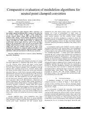 [9] Comparative evaluation of modulation algorithms for neutral-point-clamped converters