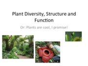 Plant Diversity, Structure and Function and Hormones
