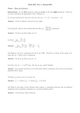 Exam 1 Spring 2004 Solutions