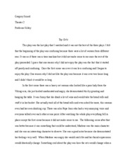theater essay three