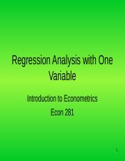 Econ 381 Lecture 2 Regression Analysis with One Variable.ppt