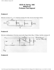 Electrical Engineering 42 - Spring 1995 - Hagouel - Midterm 1