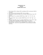 Solubility Rules F2011