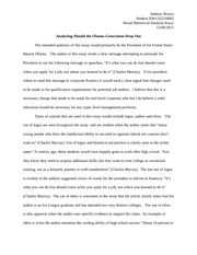 Rhetorical Analysis Essay - Andrew Brown