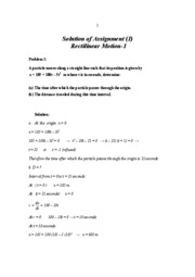 Solution of Assignment (1)
