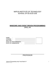 DRILL 4 - Windows and Event Driven Programming