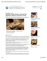 Link between lizards and Lyme disease