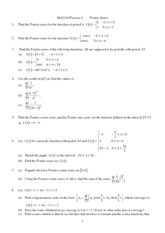 Chapter7.Fourier.Series.Exercise