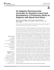 An Adaptive Neuromuscular Controller for Assistive Lower-Limb Exoskeletons_A Preliminary Study on Su