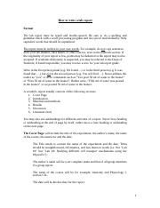 How to write an anatomy lab report need help writing assignment
