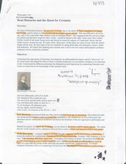 essay rene descartes philosophy