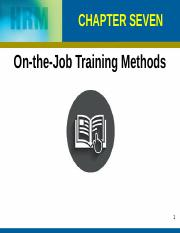 Chapter 7, 8 On The Job, Technology Based Training (1)