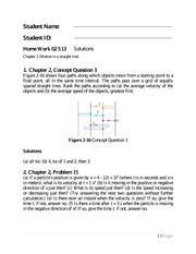 Physics 1 Chapter 2 Homework Solutions