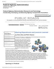 Public Roads - Sharing Experiences and Lessons Learned , July_August 2004 -
