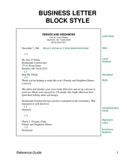 How to Business Letter Block Style