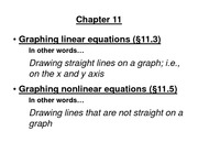 MTH 120 - Graphing Linear & Nonlinear Equations
