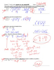 ch 7 test STUDY GUIDE KEY