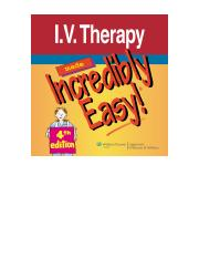 I.V. Therapy Made Incredibly Easy, 4th ed