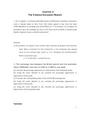 sm ch02 chapter 2 the foreign exchange market 1 on 12 august 2002