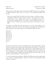 MATH 110 - Spring 2005 - Ribet - Midterm 1 (solution)