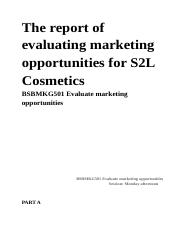 BSBMKG501 Evaluate marketing opportunities