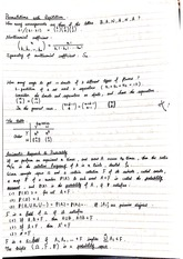 Notes on Permutations with Repetition and Probability Space