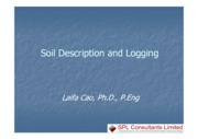 Soil Description and Logging