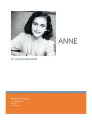 THE DIARY OF ANNE FRANK  book report.docx