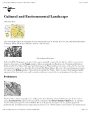 "Cultural and Environmental Landscape â€"" North American Indians"