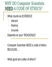 Code of ethics criticism