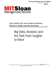 11 Big Data, Analytics and the Path From Insights to Value
