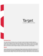 Target Research Report