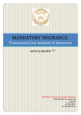 Article Review on Mandatory Insurance (New-Edited