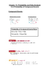 13.4 Probability of Compound Events