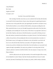 Star Wars a successful Film franchise Literature Review.docx