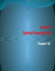 Lecture 8 Optimal financing policy.pptx