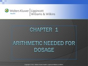 NSG 201 Dosage Calculations Chapter 1
