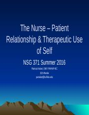 NSG 371 StudentTherapeutic Use of Self.pptx