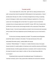 Funeral Essay