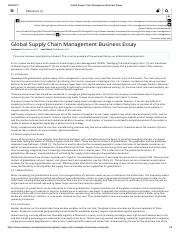 Global Supply Chain Management Business Essay.pdf