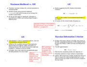 Lecture 19 slides(AIC & BIC & Residuals & Studentization)