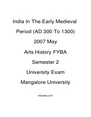 (www.entrance-exam.net)-India In The Early Medieval Period (AD 300 To 1300) Sample Paper 2.pdf