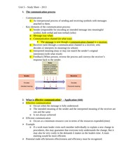 Unit 5 Management Challenges and Control Study Guide