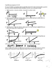 Graph matching homework answers