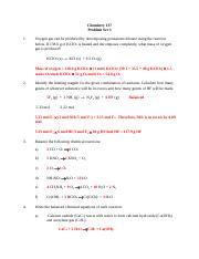 Chemistry 137 problem set 3 2016 with solutions