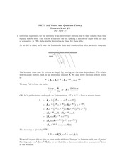 Phys 322 Fraunhofer Limit Homework Solutions